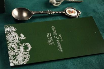 Zielono - Srebrne Menu weselne ze srebrzeniem w stylu Glamour