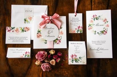 Zestaw próbny zaproszeń ślubnych Akwarele nr 27