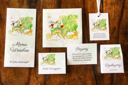 Zestaw próbny zaproszeń ślubnych Mapa Uczuć nr 2