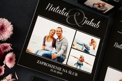 Kwadratowe Zaproszenia Ślubne ze Zdjęciem