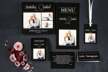 Kwadratowe Zaproszenia Ślubne ze Zdjęciem - Zestaw próbkowy