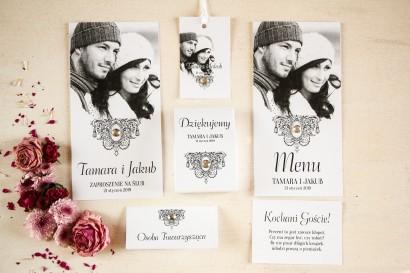 Zestaw próbkwy zaproszeń ślubnych ze zdjęciem nr 2