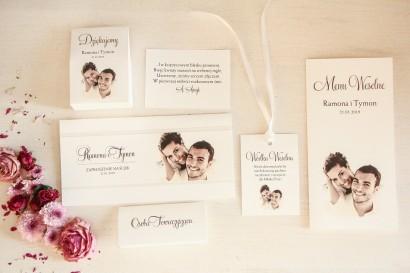 Zestaw próbkwy zaproszeń ślubnych ze zdjęciem nr 3