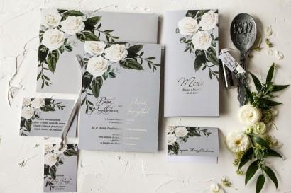 Zestaw próbkowy zaproszeń ślubnych ze srebrzeniem - Pastelowe nr 2
