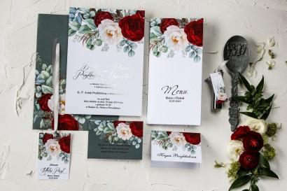 Zestaw próbkowy zaproszeń ślubnych ze srebrzeniem - Pastelowe nr 5