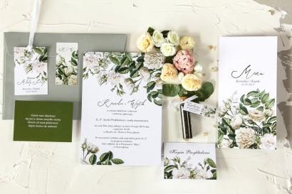 Zestaw próbny zaproszeń ślubnych, podziękowań dla gości - Wenis nr 4