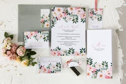 Zestaw próbny zaproszeń ślubnych, podziękowań dla gości - Wenis nr 6