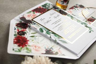 Zaproszenia ślubne z kolekcji Flores nr 2