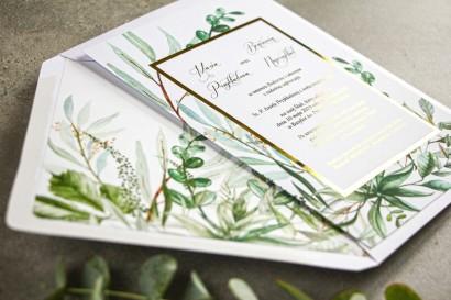 Próbne zaproszenia ślubne w stylu glamour z kolekcji Flores nr 3