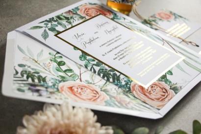 Próbne zaproszenie ślubne z kolekcji Flores nr 4