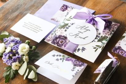 Wyjątkowe zaproszenia ślubne w stylu glamour ze złoceniem