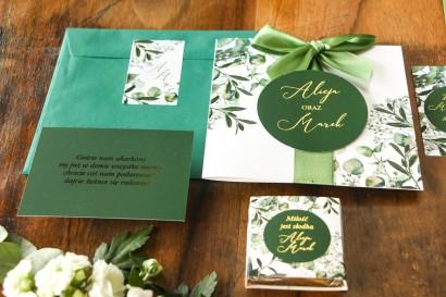 Zaproszenia ślubne z eukaliptusem i gipsówką