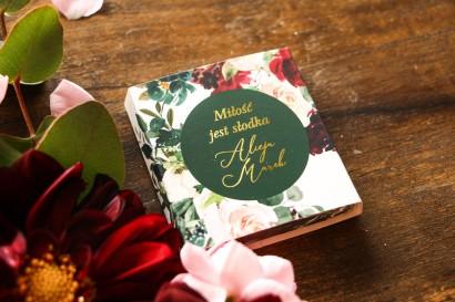 Podziękowanie dla gości weselnych w postaci mlecznej czekoladki - Soreli nr 2