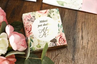 Podziękowanie dla gości weselnych w postaci mlecznej czekoladki - Soreli nr 3