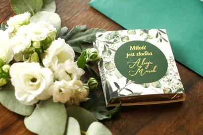Podziękowanie dla gości weselnych w postaci mlecznej czekoladki - Soreli nr 5