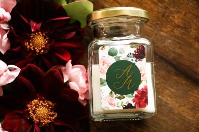 Świeczki - podziękowania dla gości weselnych w stylu Glamour z kolekcji Soreli nr 2