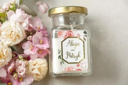 Świeczki - podziękowania dla gości weselnych w stylu Glamour - Lotus nr 1