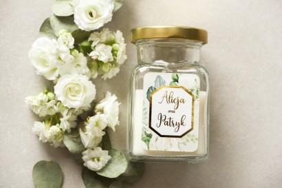 Świeczki - podziękowania dla gości weselnych w stylu Glamour - Lotus nr 4