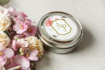 Świeczki okrągłe - podziękowania dla gości weselnych w stylu Glamour - Lotus nr 1