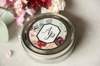 Świeczki okrągłe - podziękowania dla gości weselnych w stylu Glamour - Lotus nr 5