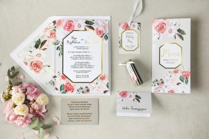 Zestaw próbkowy zaproszeń ślubnych ze złoceniami z kolekcji Lotus nr 1