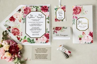 Zestaw próbkowy zaproszeń ślubnych ze złoceniami z kolekcji Lotus nr 2