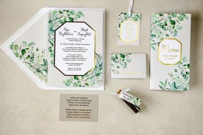 Zestaw próbkowy zaproszeń ślubnych ze złoceniami z kolekcji Lotus nr 3
