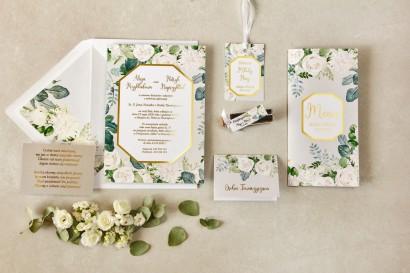 Zestaw próbkowy zaproszeń ślubnych ze złoceniami z kolekcji Lotus nr 4