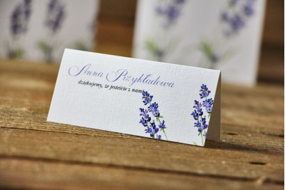 Winietki na stół weselny, ślub - Akwarele nr 14 - Lawendowe