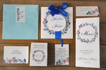 Zaproszenie ślubne z dodatkami - Akwarele nr 15 - Zimowo-świąteczne