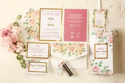 Zestaw próbny zaproszeń ślubnych z kolekcji Avril nr 3