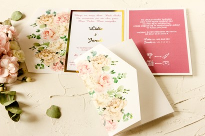 Próbka Zaproszenia Ślubnego z kolekcji Avril nr 3