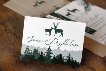 Leśne Winietki Ślubne z grafiką jeleni