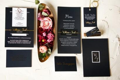 Zestaw próbny zaproszeń ślubnych z kolekcji Emerald nr 1