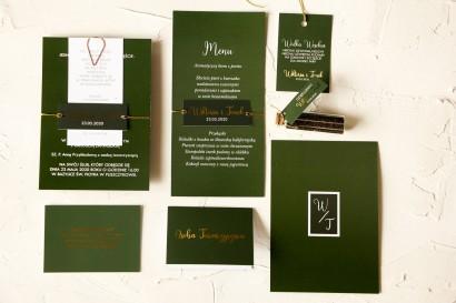 Zestaw próbny zaproszeń ślubnych z kolekcji Emerald nr 3