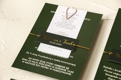 Próbne Zaproszenie Ślubne z kolekcji Emerald nr 3