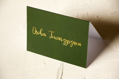 Klasyczne i Nowoczesne, zielone Winietki Ślubne ze złoceniem