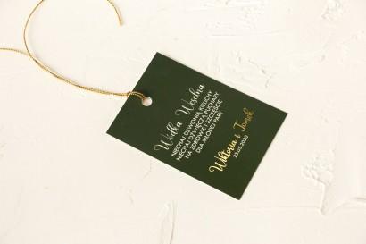 Klasyczne i Nowoczesne Ślubne zawieszki na butelki na alkohol ze złoceniem w kolorze butelkowej zieleni