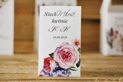 Podziękowania dla Gości weselnych - nasiona Niezapominajki - Akwarele nr 17 - Pastelowe kwiaty