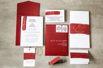 Zestaw próbny zaproszeń ślubnych z kolekcji Verte nr 1