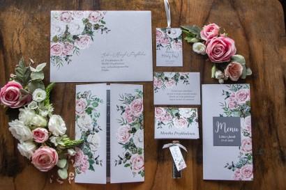 Zestaw próbny zaproszeń ślubnych z kolekcji Eteryczne nr 5
