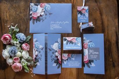 Zestaw próbny zaproszeń ślubnych z kolekcji Eteryczne nr 4