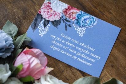 """Bilecik do zaproszeń zaproszeń ślubnych w kolorze """"dusty blue"""""""