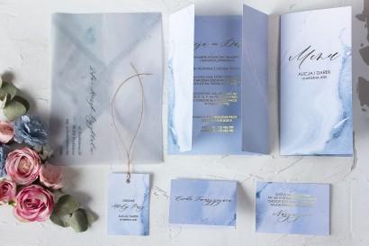 Zestaw próbny zaproszeń ślubnych z kolekcji Marmurowe nr 3