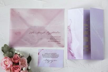Próbka zaproszenia ślubnego z kolekcji Marmurowe nr 2