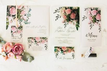 Zestaw próbny zaproszeń ślubnych na szkle z kolekcji Korani nr 1