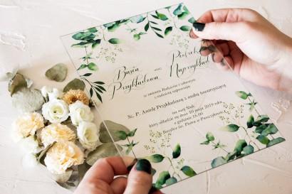 Próbne zaproszenie ślubne na szkle z kolekcji Korani nr 3