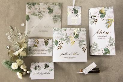 Zestaw próbny zaproszeń ślubnych z kolekcji Rubin nr 6