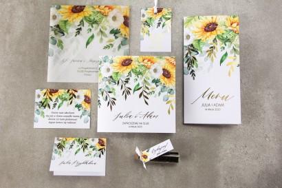 Zestaw próbny zaproszeń ślubnych z kolekcji Rubin nr 7