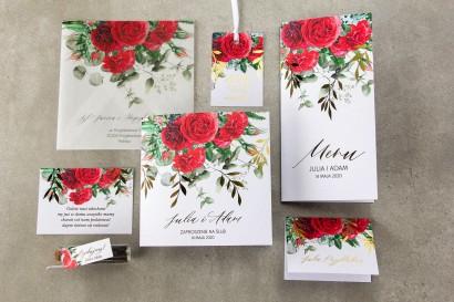 Zestaw próbny zaproszeń ślubnych z kolekcji Rubin nr 8